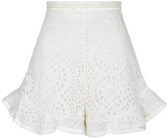 Zimmermann Lovelorn High Waist Lace Shorts