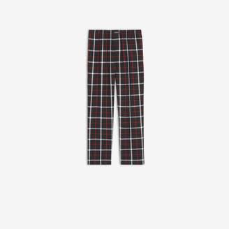 Balenciaga Pajama Pants in black, white and red fluid checked viscose
