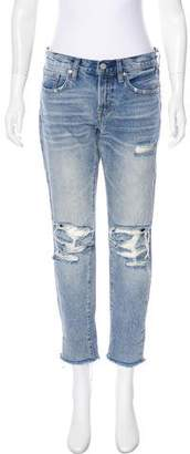 AllSaints Mid-Rise Distressed Jeans