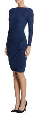 Chiara Boni Women's Cassandre Boatneck Sheath Dress - Navy - Size 52 (16)