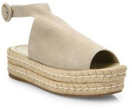 Prada Suede Ankle-Strap Platform Espadrilles $750 thestylecure.com