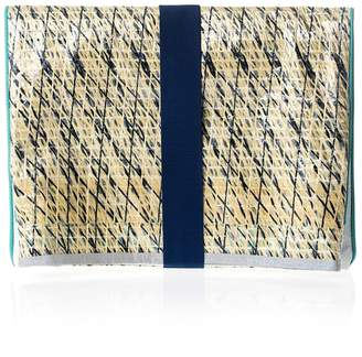 huner - Fold Over Clutch 0001 With Grey Stripe