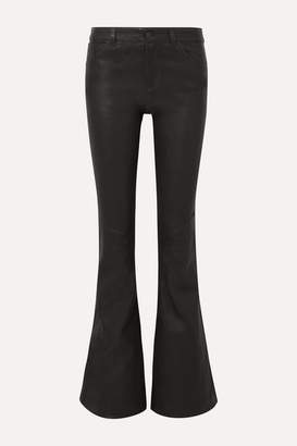 Alice + Olivia Alice Olivia - Leather Flared Pants - Black