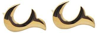 Babette Wasserman Women's 18ct Yellow Gold Plated Sterling Silver Flame Earrings