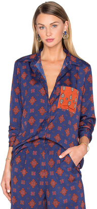 House of Harlow x REVOLVE Cyndee Classic Button Down $148 thestylecure.com