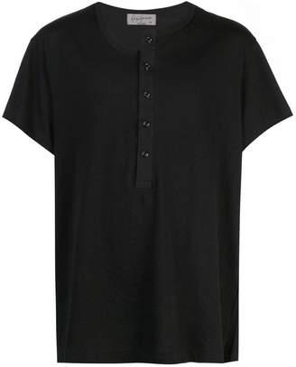 Yohji Yamamoto gap-collar T-shirt