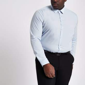 River Island Mens Big and Tall light blue long sleeve shirt