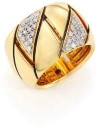 Roberto Coin Appassionata Diamond, 18K Yellow Gold& 18K White Gold Ring