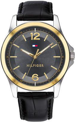 Tommy Hilfiger Women's Black Leather Strap Watch 42mm