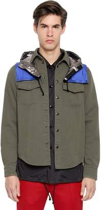 Valentino Cotton Twill Shirt W/ Nylon Hood