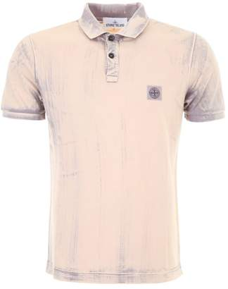 Stone Island Tie And Dye Polo Shirt