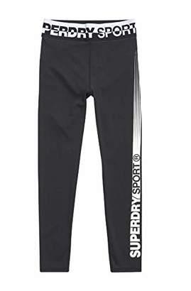 Superdry Women's Core 7/8 Legging (Black 02A), 8 (Size: 10)