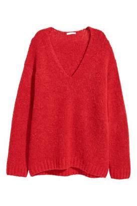 H&M Knit Wool-blend Sweater - Red - Women