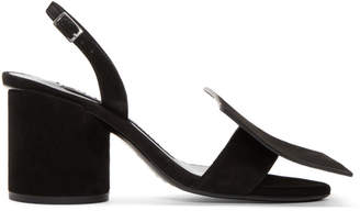 Jacquemus Black Suede Les Rond Carre Sandals