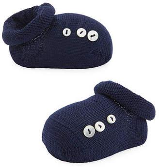 story. Loris Basic Cotton Bootie w/ Buttons, Infant