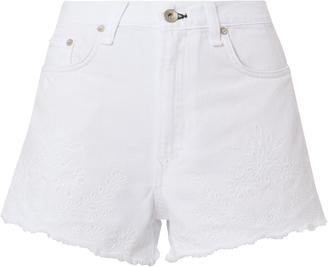 Rag & Bone Justine Eyelet Denim Shorts