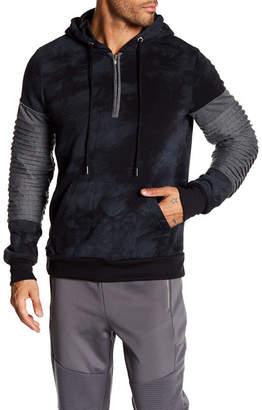 TR PREMIUM TR Premium Mens Fashion Fleece Tie Dye Hoodie
