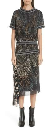 Fuzzi Mixed Paisley Print Dress