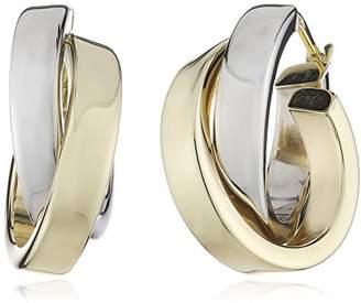 Celesta 324310080 8ct 2 Colour Creole Earrings