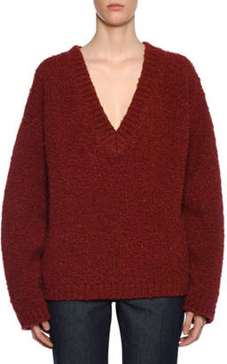 Bottega Veneta Deep-V Knit Wool/Alpaca Sweater