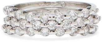Silvertone Jeweled Ring Set