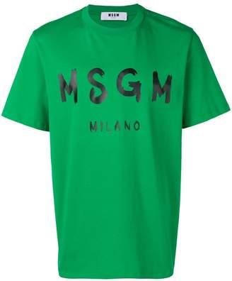 MSGM painted logo T-shirt