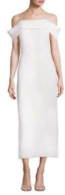 Elizabeth and James Adriana Solid Gown $495 thestylecure.com