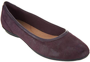 Clarks Leather Ballet Flats- Gracelin Mara