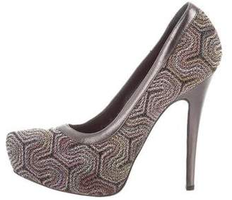 Missoni Chevron Platform Pumps
