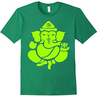 Ganesh Neon Green Tee Shirt