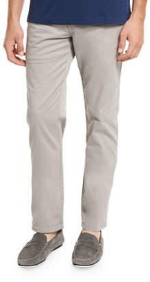 Peter Millar Five-Pocket Stretch Sateen Pants, Light Gray $145 thestylecure.com