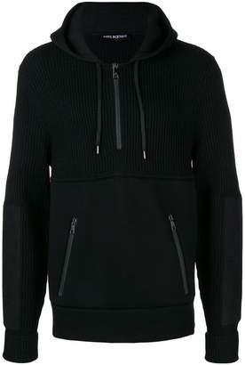 Neil Barrett combined knitted hoodie