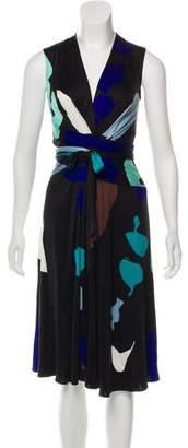 Issa Printed Silk Wrap Dress