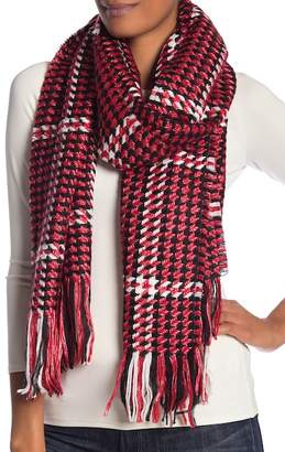 Collection XIIX Houndstooth Plaid Blanket Wrap