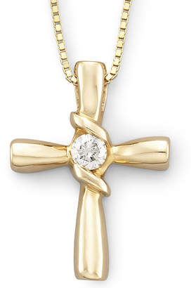 Sirena 1/10 CT. T.W. Diamond Cross Pendant 14K Gold Necklace