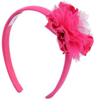 Il Gufo Cotton Jersey Headband W/ Flower Detail