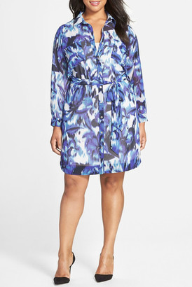 Eliza J Print Pocket Shirtdress (Plus Size) $148 thestylecure.com