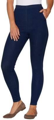 Denim & Co. Regular Pull-on Stretch Denim Legging