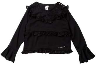 Bebe Chiffon Lace Top (Big Girls)