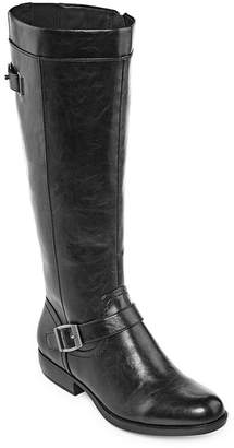 Yuu Womens Jaxie Riding Boots Stacked Heel