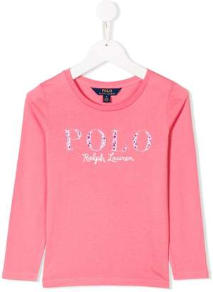Ralph Lauren floral logo patch T-shirt