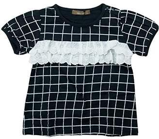 nico hrat (ニコ フラート) - 《春夏対応》 nico hrat(ニコフラート) 製品洗い加工済み 42/2天竺チェック半袖Tシャツ 80cm /NV NO.B-270116