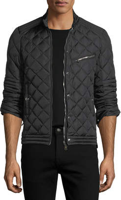 Moncler Fred Quilted Nylon Cafe Racer Jacket