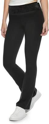 So Juniors' SO Mid-Rise Skinny Bootcut Yoga Pants