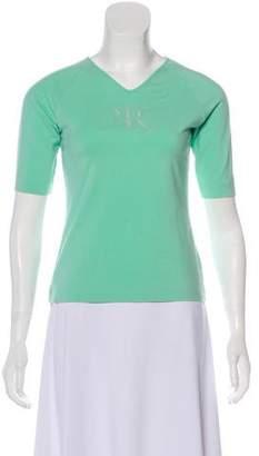 Nina Ricci Short Sleeve V-Neck Top w/ Tags
