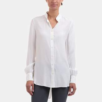 Frame Button-Up Tunic Blouse