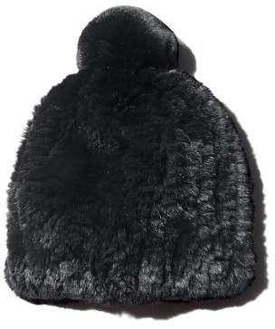 Maximilian Furs Knit Rex Rabbit Fur Hat - 100% Exclusive