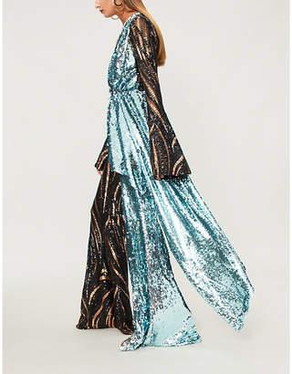 HALPERN Flared sequinned jumpsuit