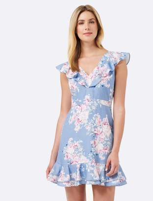 Forever New Elliette Floral Sun Dress - Blue Vintage Rose Print - 4