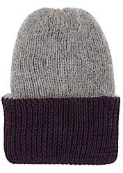 Eugenia Kim Women's Heather Reversible Rib-Knit Angora-Blend Beanie-Purple